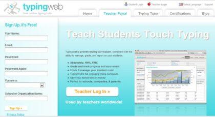 typingweb program belajar mengetik gratis