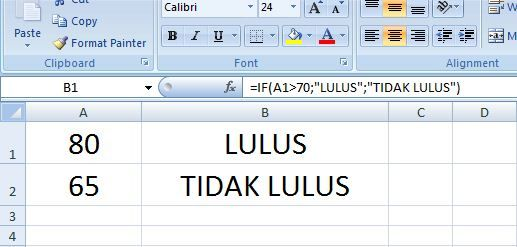 Fungsi IF pada Excel