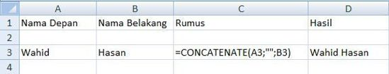 concatenate name