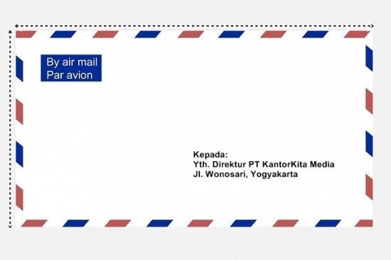 Mencetak Alamat pada Amplop Surat dengan Mail Merge