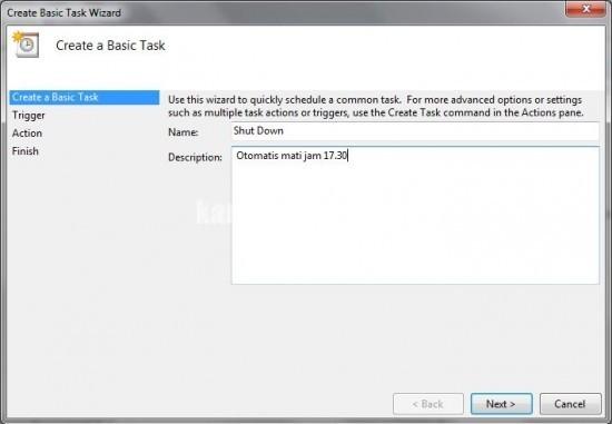 Membuat Auto Shut Down di Windows 7 Tanpa Software 2