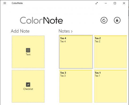 ColorNote for Windows 10