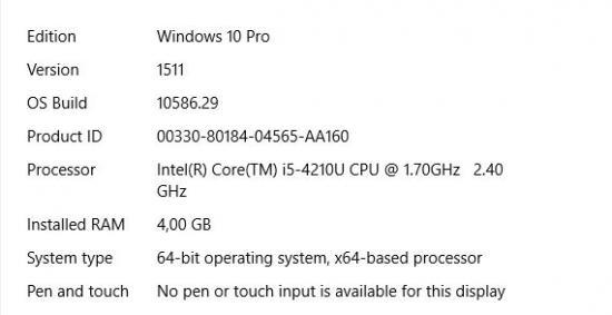 Update Windows 10 1511 10586